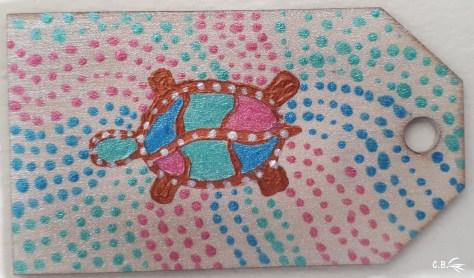 Peinture acrylique, tortue