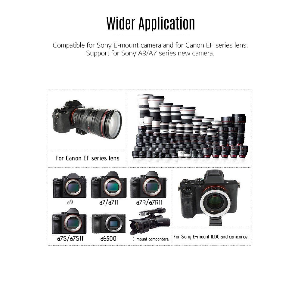 Viltrox Canon EF to Sony E Mount Adapter / Speed Booster