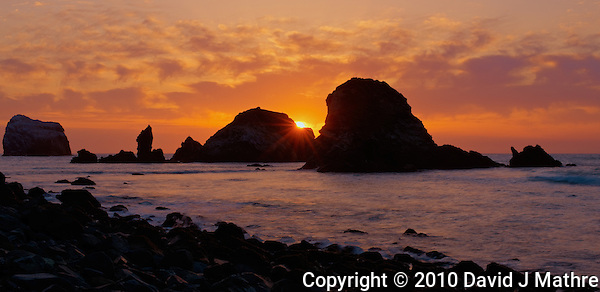 Sunset at Sand Dollar Beach, Big Sur Central California Coast. Image taken with a Nikon D3x and 50 mm f/1.4G lens (ISO 100, 50 mm, f/16, 1/5, 1/10, 1/20, 1/40, 1/80 sec). HDR Composite of 5 images using Photomatix Pro. (David J Mathre)