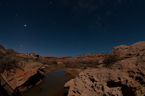 Salt Wash Under Stars at Night, Arches National Park, Utah, US (Roddy Scheer)