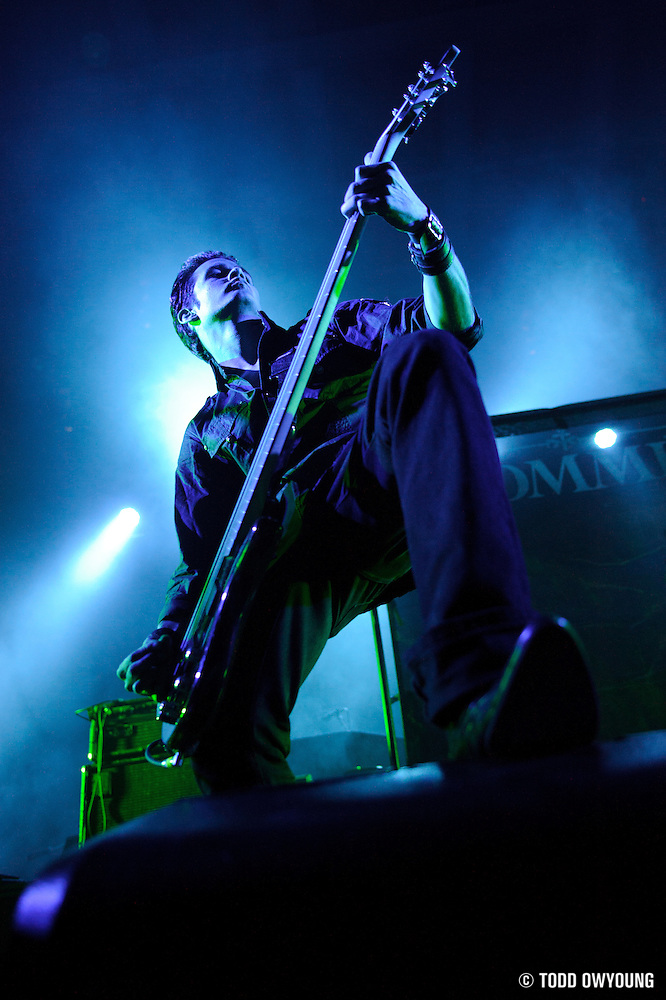 Photos of goth metal band Dommin supporting HIM at the Pageant in St. Louis on April 7, 2010 by music photographer Todd Owyoung. (TODD OWYOUNG)