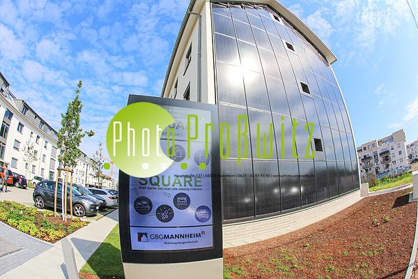 Landesumweltminister Untersteller besucht Mannheimer Modellprojekt SQUARE zu energieeffizientem Wohnen und nachhaltiger Mobilitä, Modellprojekt SQUARE auf Franklin