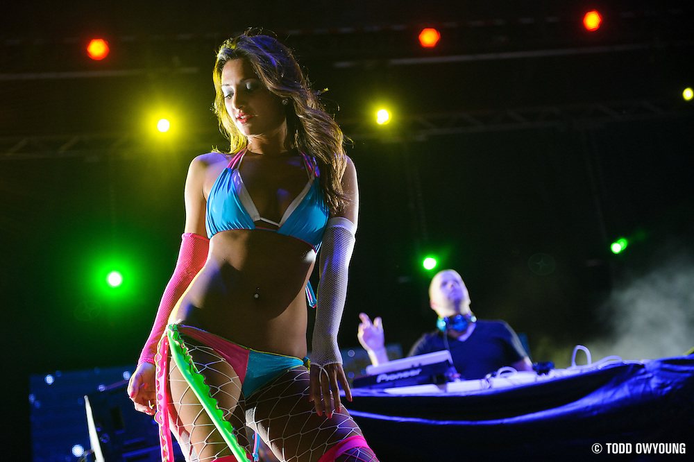 A dancer on the main stage at the first annual Pulse Festival in St. Louis on June 9, 2012. (Todd Owyoung)