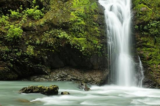 Un-named waterfalls fall into the Boulder River, Boulder River Wilderness, Mount Baker-Snoqualmie National Forest, Washington, USA (Copyright Brad Mitchell Photography.9601 Wall St.Snohomish, WA 98296.USA.425-418-7279.brad@bradmitchellphoto.com)
