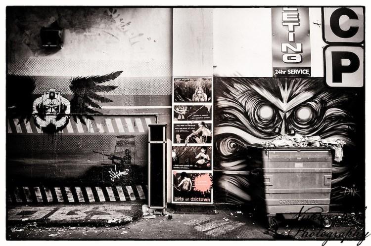 Street art by Doombringer, Snub, Finbarr, DanK, Shoreditch, East London (Viveca Koh)