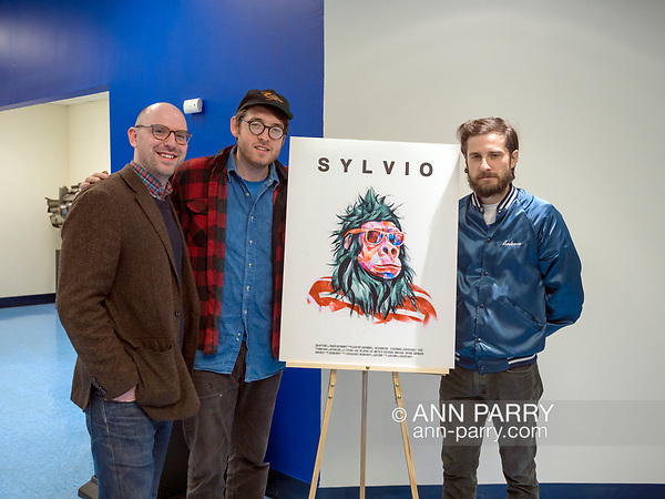 Hempstead, New York, USA. October 30, 2017. Film event of screening of SYLVIO, a fantasy feature film, and Q and A with ALBERT BIRNEY, KENTUCKER AUDLEY, and mdoeraotr RUSSELL HARBAUGH, is hosted by Radio, Television, Film Department of Lawrence Herbert School of Communication of Hofstra University.