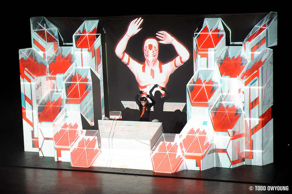 Skrillex performing at the Pageant on his Mothership Tour Thursday night, November 3. (Todd Owyoung)