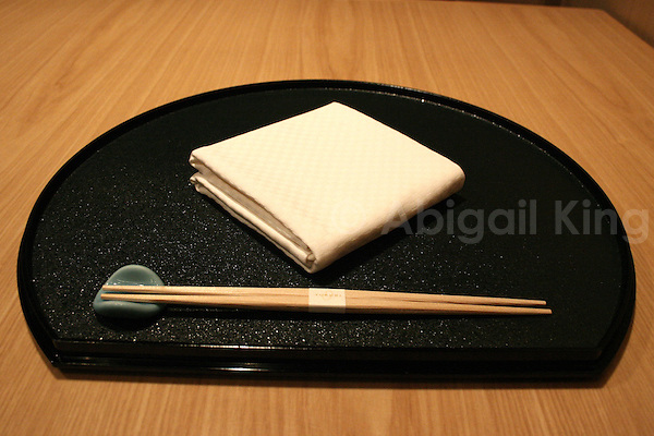 Place setting at hotel niwa restaurant