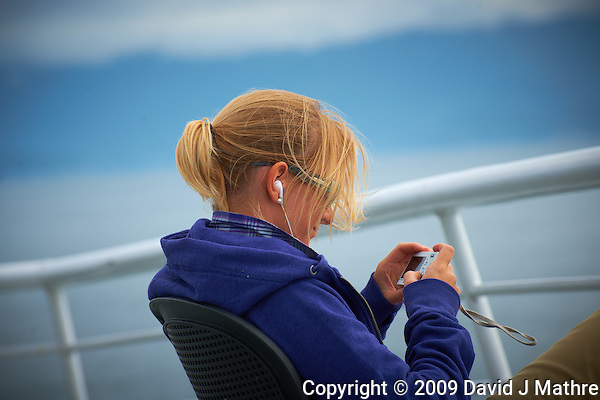 Christine Chimping on the Alaska Marine Highway. Image taken with a Nikon D3x and a 70-300 mm VR lens (ISO 100, 195 mm, f/8, 1/500 sec). (David J. Mathre)
