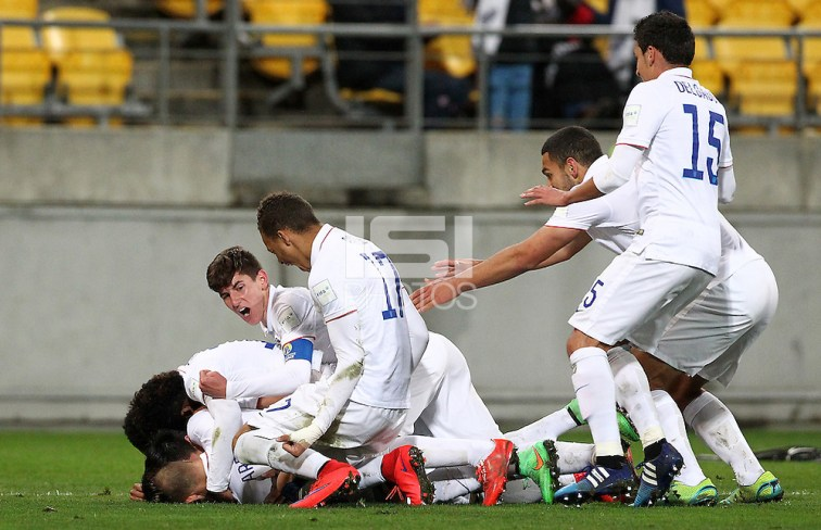 Wellington, New Zealand - June 10, 2015: The USMNT U-20 defeat Columbia 1-0 advancing out of round of 16 to reach the quarter finals during the FIFA U-20 World Cup at Wellington Regional Stadium. (Grant Down/photosport.co.nz/isiphotos.com)