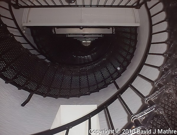 Amelia Island Lighthouse Spiral Stairway. Image taken with a Polariod PDC700 digital camera. (David J Mathre)