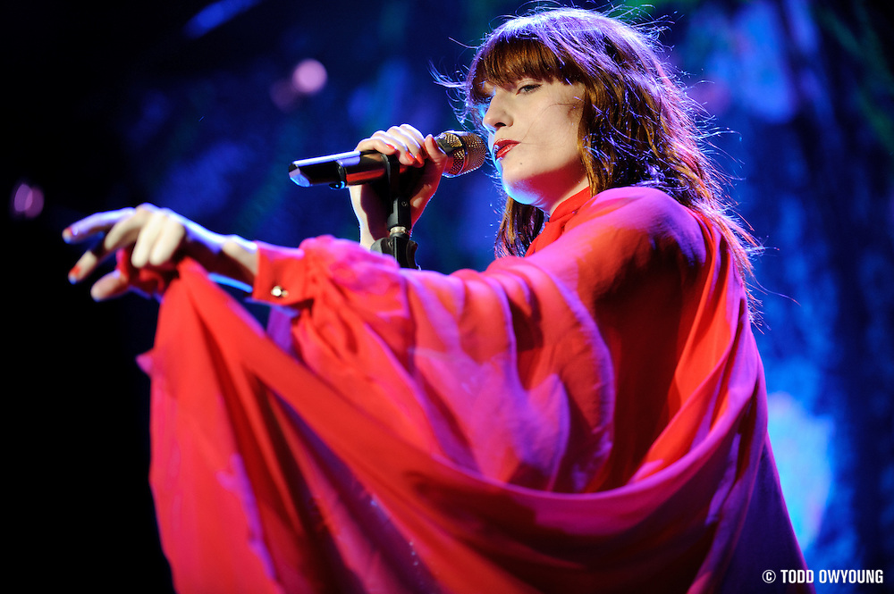 Florence and the Machine performing at the Pageant in St. Louis, Missouri on July 5, 2011. © Todd Owyoung. (Todd Owyoung)