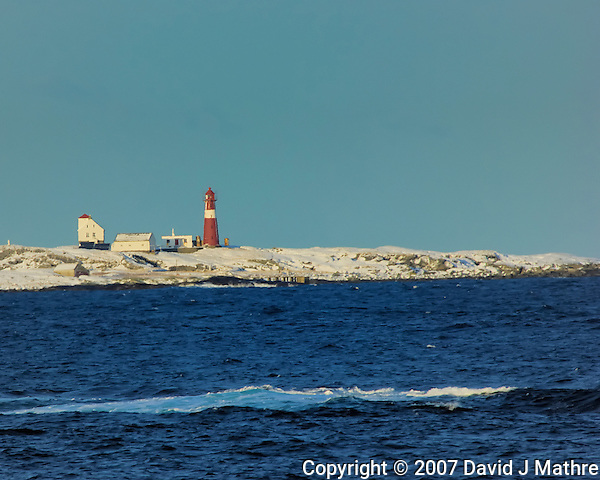 Lighthouse while Traveling to Ålesund. Image taken with a Nikon D2xs and 80-400 mm VR lens (ISO 200, 400 mm, f/9.5, 1/350 sec). (David J. Mathre)