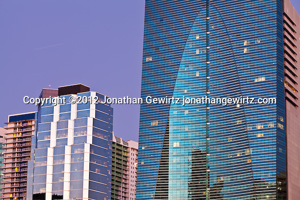 Office buildings and condos on Miami's Brickell Avenue. (© Jonathan Gewirtz)