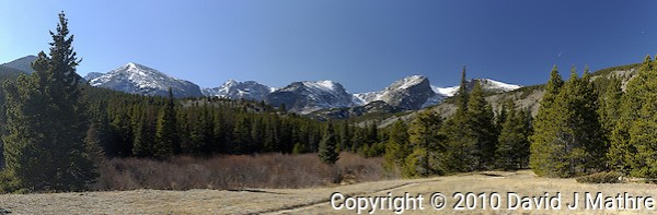 Panorama at Storm Pass Trailhead, Rocky Mountain National Park, Colorado (David J Mathre)