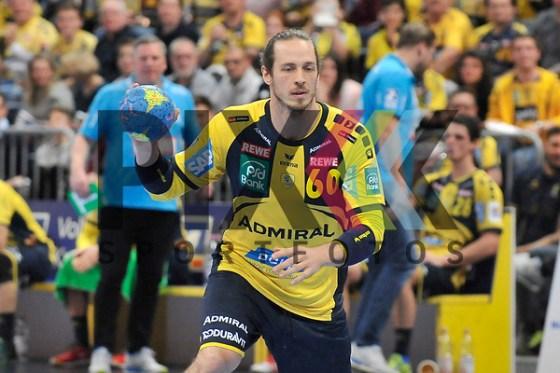 Rhein Neckar Loewe Kim Ekdahl Du Rietz (Nr.60) am Ball beim Spiel im DHB Pokal, Rhein Neckar Loewen - SC DHfK Leipzig. Foto © PIX-Sportfotos *** Foto ist honorarpflichtig! *** Auf Anfrage in hoeherer Qualitaet/Aufloesung. Belegexemplar erbeten. Veroeffentlichung ausschliesslich fuer journalistisch-publizistische Zwecke. For editorial use only. (PIX-Sportfotos/Michael Ruffler/PIX-Sportfotos.de)