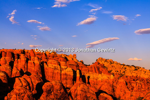 The Fiery Furnace geological formation in Arches National Park, Utah in warm, late-afternoon sunlight. (Jonathan Gewirtz   jonathan@gewirtz.net)