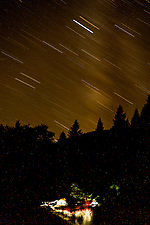Upper Falls Campsite & Star Trails, Clear Creek Ranch, French Gulch, California, US (Roddy Scheer)