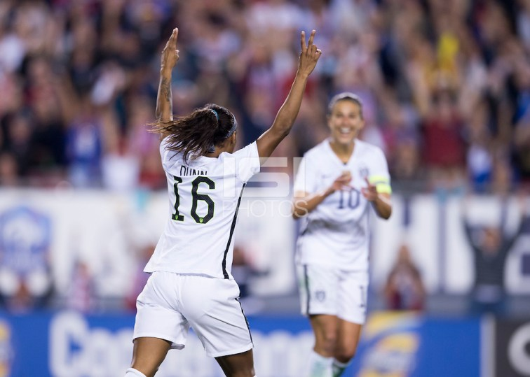 Crystal Dunn -- Tampa, FL - March 3, 2016: The USWNT defeated England 1-0 during the SheBelieves Cup at Raymond James Stadium. (Brad Smith/isiphotos.com)