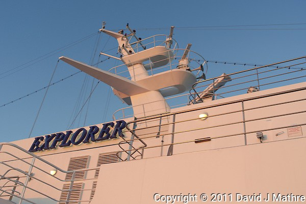 M/V Explorer Upper Mast. Image taken with a Leica X1 camera (ISO 100, 24 mm, f/4.5, 1/125 sec). (David J Mathre)