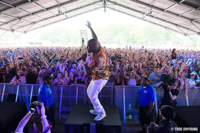 The Knocks with special guests Carly Rae Jepsen and Wyclef Jean photographed performing at the Governors Ball Music Festival on Randalls Island in New York City on June 4, 2016 (Todd Owyoung)