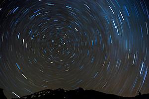 Star Trails Above Mt. Shasta, Shasta-Trinity National Forest, California, US (Roddy Scheer)