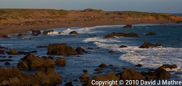 Piedras Blancas Beach, Central California Coast. Image taken with a Nikon D3x and 70-300 mm VR lens (ISO 100, 116 mm, f/8, 1/400 sec). (David J Mathre)