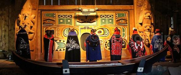 Tlingit Performance inside Chief Shakes' House
