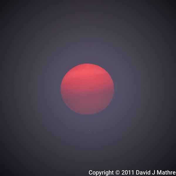 Solar Disk in the Mist at Sunrise on the Deck of the M/V Explorer. Image taken with a Nikon D3x and 70-300 mm VR lens (ISO 100, 300 mm, f/5.6, 1/125 sec). Raw image processed with Capture One Pro 6, Topaz Detail Color Jump, Topaz DeNoise, and converted to JPG/sRGB with Photoshop CS5. (David J Mathre)
