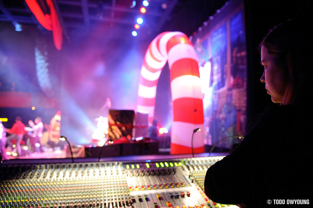 A view from side stage at the Pageant during the Ludo Christmas show on December 10, 2011. (Todd Owyoung)
