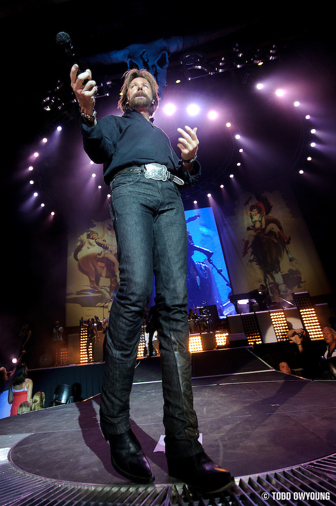 "Photos of Brooks and Dunn on their farewell tour, ""The Last Rodeo,"" photographed in St. Louis on August 7, 2010. (© Todd Owyoung)"