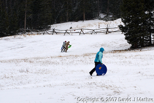Winter Play Area, Hidden Valley, Rocky Mountain National Park. (David J Mathre)