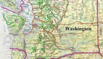 USA WASHINGTON North Cascades And Skagit Delta - Us map baker peak