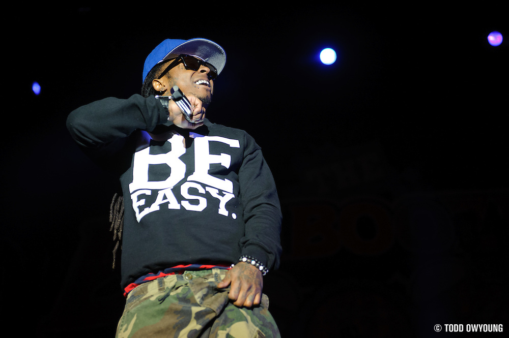 Lil Wayne performs at the Bamboozle Music Festival. Meadowlands Sports Complex, East Rutherford, NJ.  May 1, 2011. Copyright © 2011 Todd Owyoung. (Todd Owyoung)