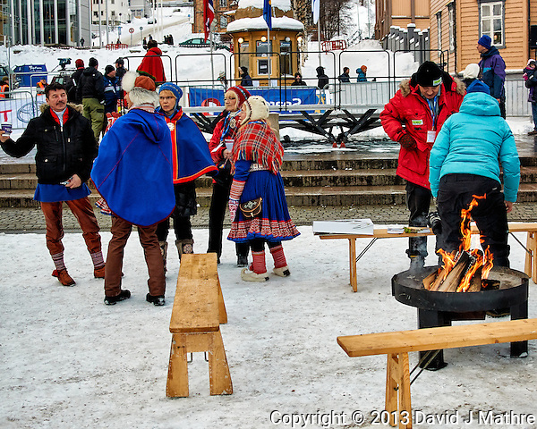 """Hot Pants"" Sunday outdoor market/festival . Winter walkabout in Tromsø, Norway. Image taken with a Nikon 1 V2 camera and 18.5 mm f/1.8 lens (ISO 180, 18.5 mm, f/2.8, 1/500 sec). (David J Mathre)"