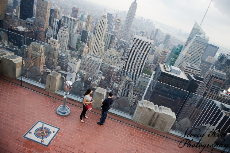 View from the top of the Rockefeller Center (Viveca Koh)
