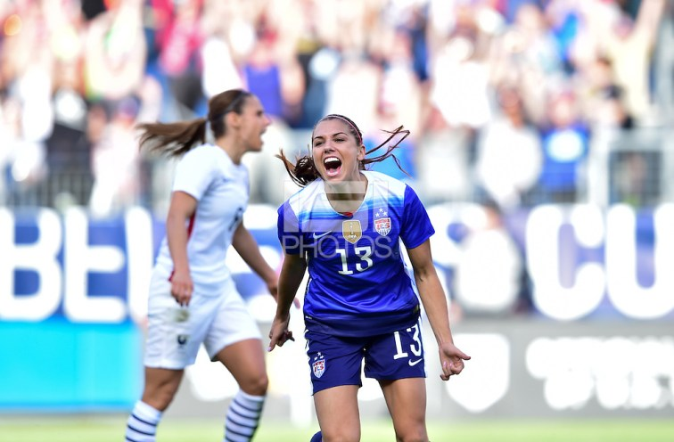 Alex Morgan - Nashville, Tenn. - March 6, 2016: The US Women's National team defeat France 1-0 in the 2016 SheBelieves Cup at Nissan Stadium. (Brad Smith/isiphotos.com)