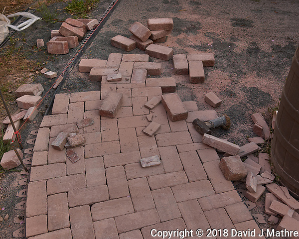 Brick Sidewalk -- Renovation in Progress. Image taken with a Leica CL camera and 23 mm lens (David J Mathre)