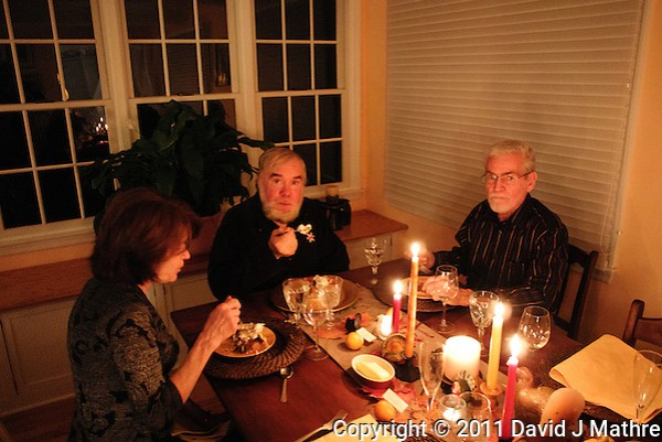 Laurin and Carol's Thanksgiving Dinner Celebration 2011 in Skillman, New Jersey. Images taken with a Nikon 1 V1 camera and 10 mm lens. (David J Mathre)