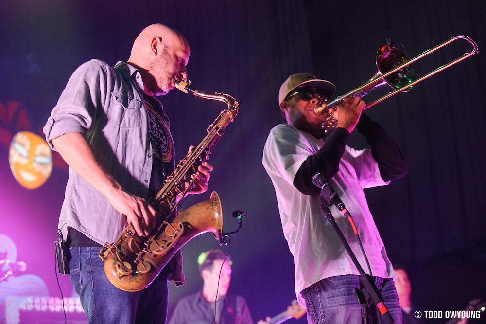 Galactic performing at the Pageant in St. Louis on March 14, 2012. (TODD OWYOUNG)