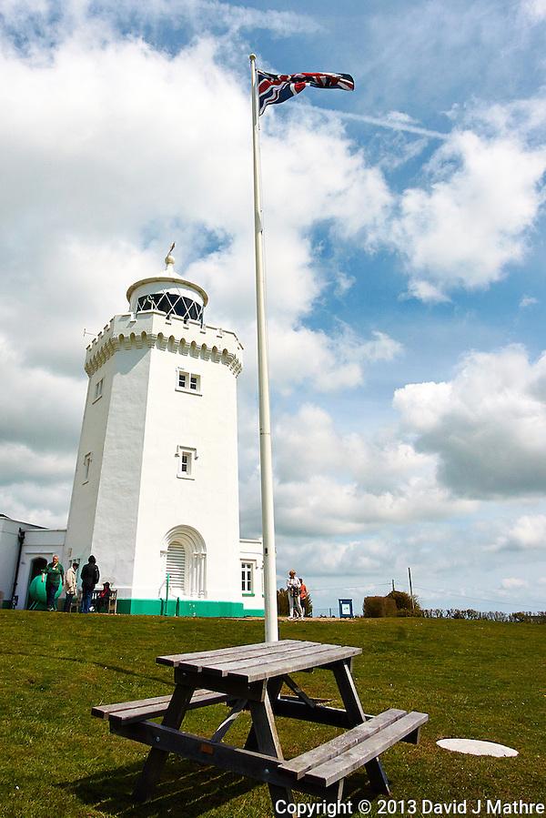 South Foreland Lighthouse. St. Margaret's Bay, Dover England. Image taken with a Nikon 1 V2 and 6.7-13 mm VR lens (ISO 160, 6.7 mm, f/6.3, 1/1250 sec). Semester at Sea Spring 2013 Enrichment Voyage. (David J Mathre)