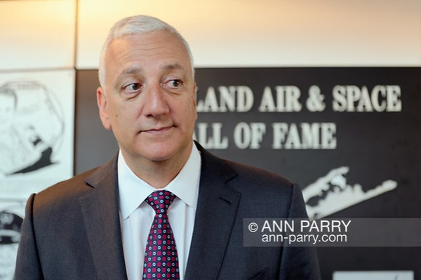 Garden City, NY, USA. June 21, 2018. Former NASA astronaut MIKE MASSIMINO is inducted into Long Island Air & Space Hall of Fame Class of 2018 at Cradle of Aviation Museum. (Ann Parry/Ann Parry, ann-parry.com)