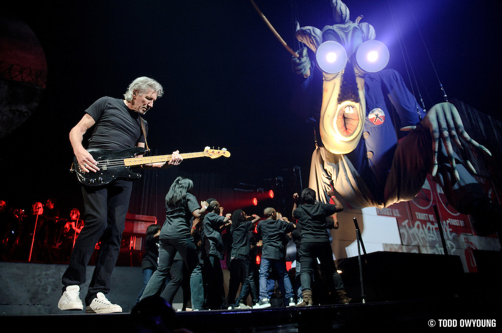 """Roger Waters performs """"The Wall"""" on October 29, 2010 at the Scottrade Center in St. Louis, Missouri (TODD OWYOUNG)"""