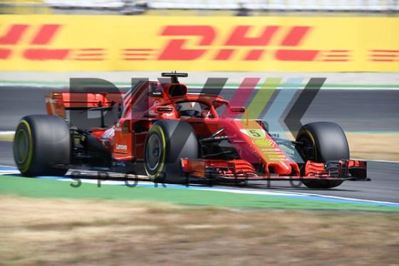 Nr.5 Sebastian Vettel im Ferrari beim Formel 1 Grosser Preis von Deutschland. Foto © PIX-Sportfotos *** Foto ist honorarpflichtig! *** Auf Anfrage in hoeherer Qualitaet/Aufloesung. Belegexemplar erbeten. Veroeffentlichung ausschliesslich fuer journalistisch-publizistische Zwecke. For editorial use only. (PIX-Sportfotos/Daniel Glaser)