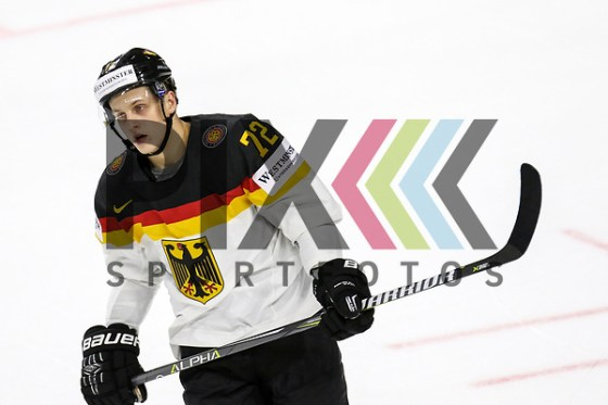 Deutschlands Kahun, Dominik (Nr.72)  beim Spiel der IIHF 2017 WM, Deutschland - Daenemark. Foto © PIX-Sportfotos *** Foto ist honorarpflichtig! *** Auf Anfrage in hoeherer Qualitaet/Aufloesung. Belegexemplar erbeten. Veroeffentlichung ausschliesslich fuer journalistisch-publizistische Zwecke. For editorial use only. (PIX-Sportfotos/Sascha Schneider)