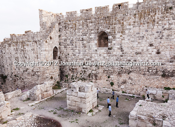 A group of boys at play in the Jewish Quarter of the Old City of Jerusalem. (© 2012 Jonathan Gewirtz / jonathan@gewirtz.net)