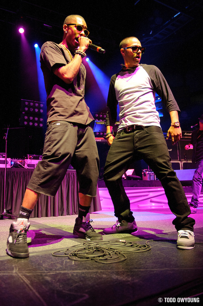 The New Boyz performing in support of Lupe Fiasco on the Generation LASER Tour 2011 at the Chaifetz Arena on September 29, 2011. Photo by Todd Owyoung. (Todd Owyoung)