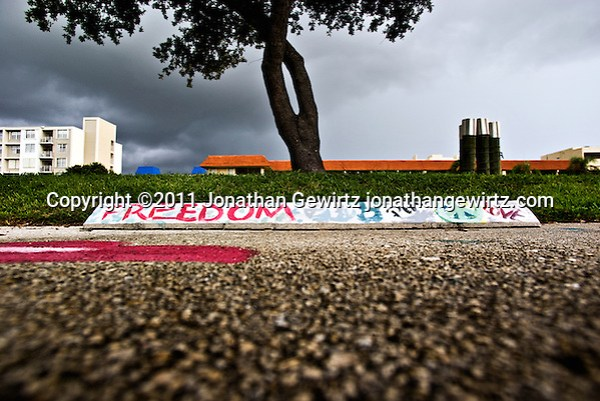 Parking space at the Art Institute of Fort Lauderdale, Florida. (Jonathan Gewirtz)