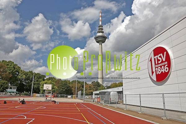 Mannheim. 21.08.14 TSV 1846. Neubau einer Sportanlage neben den Hockeyanlagen des Vereins. Bild: Markus Proßwitz 21AUG14 / masterpress (Markus Prosswitz / masterpress)
