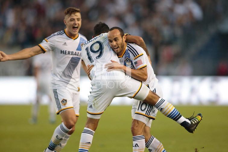 Carson, California - Sunday, November 9, 2014: The LA Galaxy defeated Real Salt Lake 5-0 in a Major League Soccer (MLS) playoff match at StubHub Center stadium. (Michael Janosz/isiphotos.com)